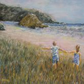 Springtime At Proposal Rock - Painting by Norman Enzor