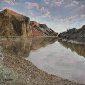 John Day Mountain Lake - Painting by Norman Enzor