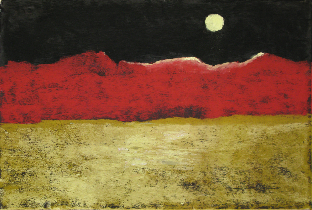 Sahara Moon - Painting by Norman Enzor