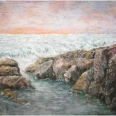 Ocean Tide Pool - Painting by Norman Enzor