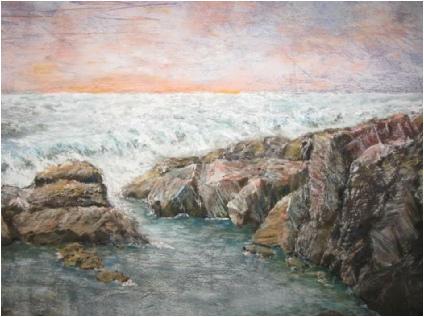 Ocean Tide Pool - Painting by Norman Enzor
