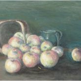 Basket of Apples - Painting by Norman Enzor
