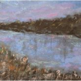 Sunset Reflections On The River - Painting by Norman Enzor